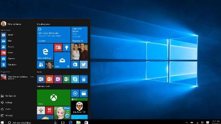 The new Windows 10 start menu (Microsoft/PA)