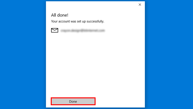 Setting up the Microsoft Mail app on Windows 10