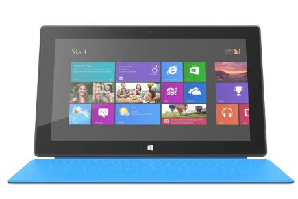 Microsoft Surface RT tablet with Blue keyboard