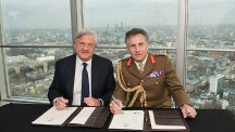Mike Rake and General Nick Carter sign a new version of our Armed Forces Covenant