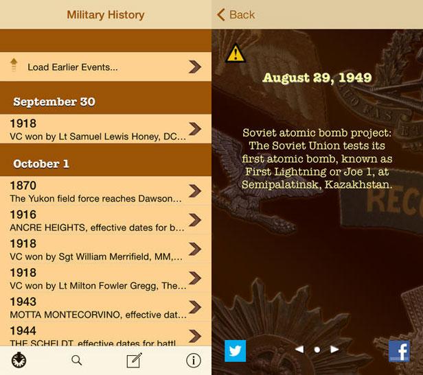Military History app