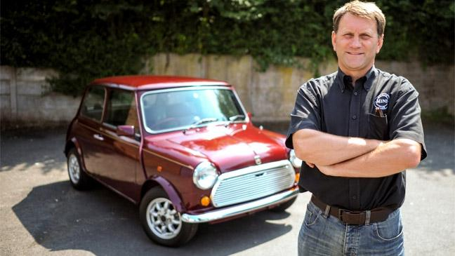 Mini Club Leader David Hollis Pictured With The 25 Year Old Mini With Just  13