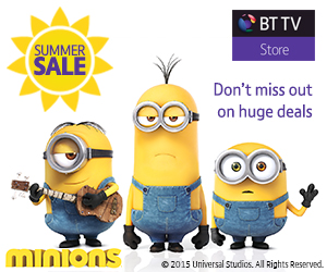 A picture from the film Minions - available in the BT TV Store Summer Sale