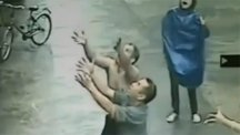 Miracle catch saves falling baby