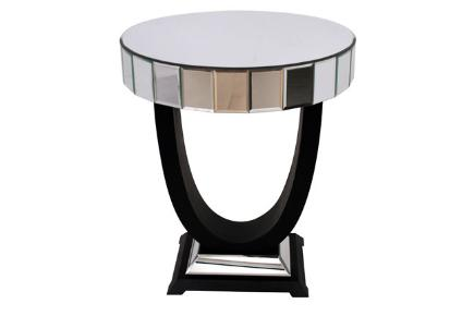 Mirrored art deco style side table