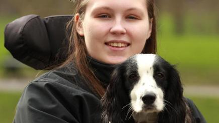 Lucy Watts, pictured in 2014, says she would be lost without cocker spaniel Molly