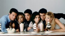 Monica, Rachel, Phoebe, Chandler, Joey Ross.