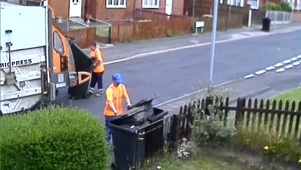 Mother left furious after watching binmen on CCTV