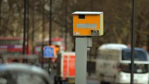 Speed camera on main road