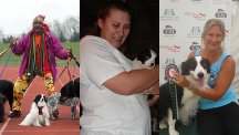 Mr Motivator meets the super-slimmer who lost seven stone by exercising with her dogs