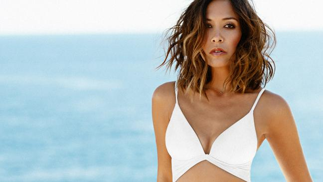 Myleene s bikini s back! Ms Klass revives famous white two-piece in ... 83a929607