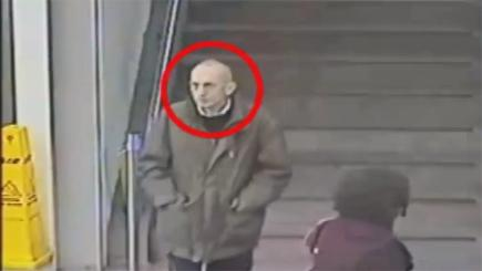 Screen grab from GMP CCTV video of unidentified man found dead on Saddleworth Moor