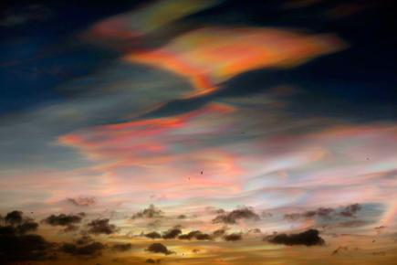 Nacreous Clouds over Whitley Bay, Northumberland