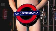 Naked rugby team halts Underground journey