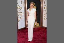 Naomi Watts shimmered from head to toe in a custom-made Calvin Klein column gown.