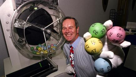 National Lottery drawmaster John Willan