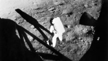 Neil Armstrong walks on the Moon.