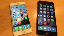 The new iPhone 6, left, and 6 Plus have helped Apple make a £5.3bn final quarter profit for 2014
