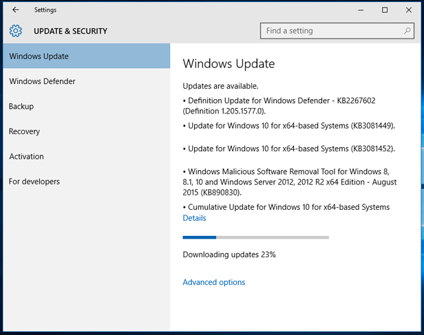 v5. Run Windows Update