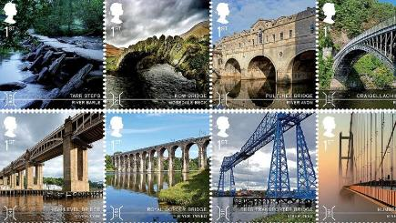 Ten stamps featuring some of the UK's most dramatic bridges have been launched by Royal Mail (Royal Mail/PA)