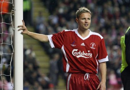 Nicky Byrne of Westlife playing in the Hillsbrough Disaster Memorial match at Anfield in 2009.