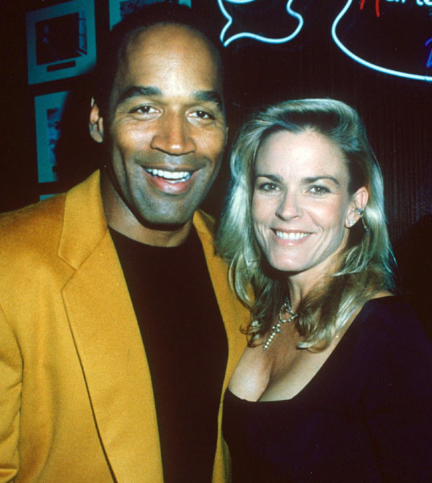 OJ Simpson and his second wife Nicole Brown.