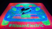 The Nissan Leaf art