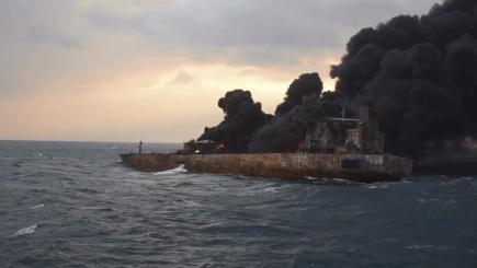 No hope of survivors on oil tanker burning off China's coast, agency chief warns