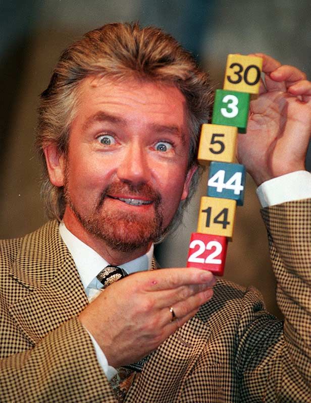 Noel Edmonds and the winning National Lottery numbers