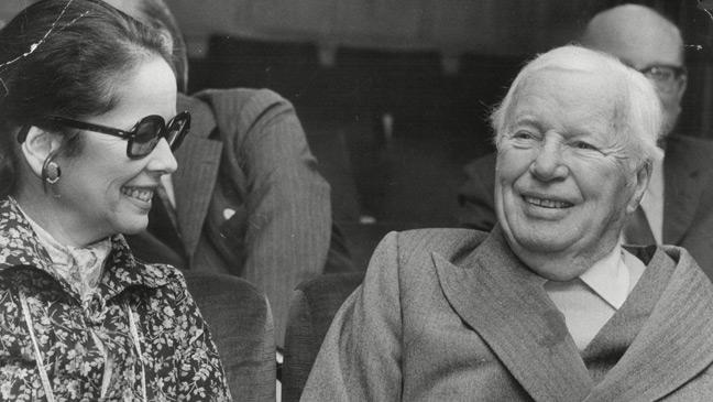 charlie chaplin and wife oona - Father Knows Best Home For Christmas 1977