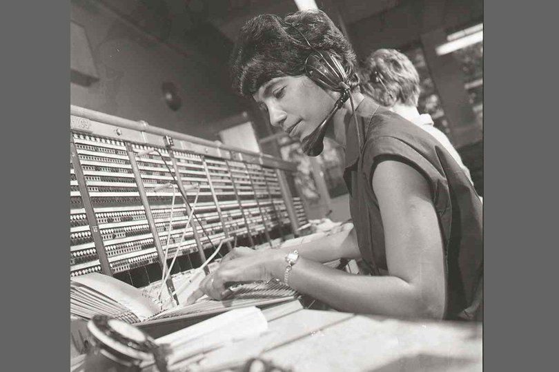 Operator at St Albans Telephone Exchange. 1967.