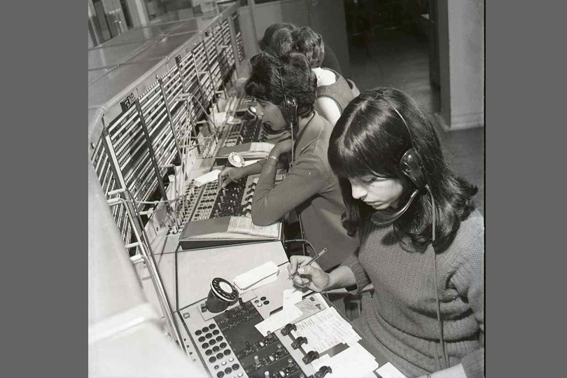 Operators at St Albans Telephone Exchange. 1967.