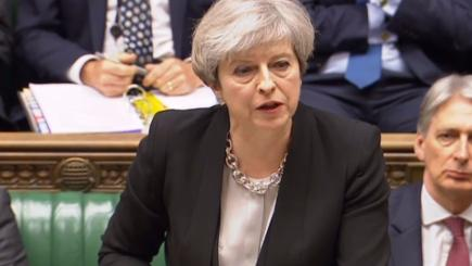 British PM May vows energy price cap if re-elected""