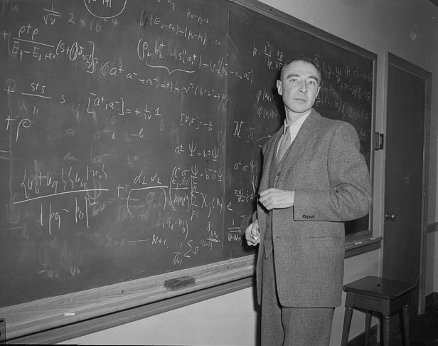 Dr J Robert Oppenheimer, the theoretical physicist who led the Manhattan Project.