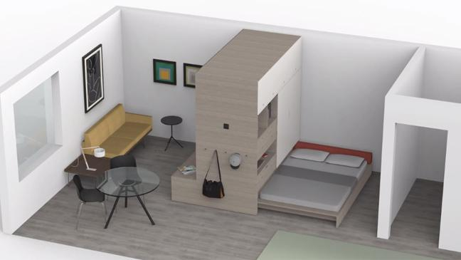 the future of furniture. Graphic Of Room With Bed, Living And Table The Future Furniture R
