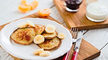Pancakes made with bananas