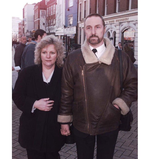 Leah's parents, Jan and Paul Betts, in Chelmsford for the inquest into their daughter's death in January 1996.
