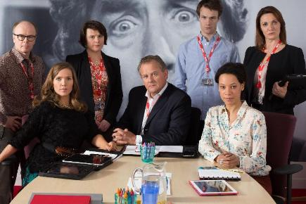 Sarah Parish stars in mockumentary W1A about the BBC