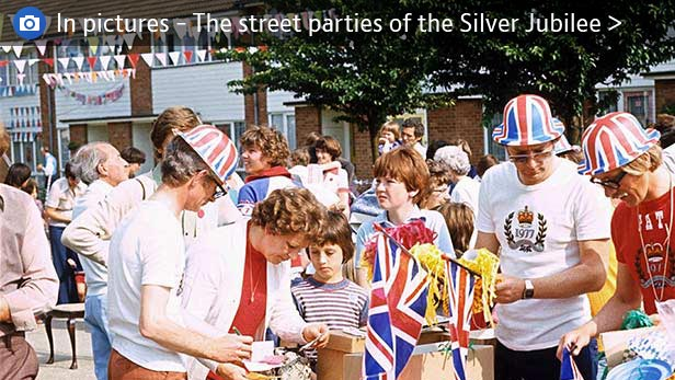 The street parties of the Silver Jubilee