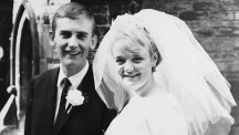 Patricia Cavanagh and Brian Lewis on their wedding day in 1965