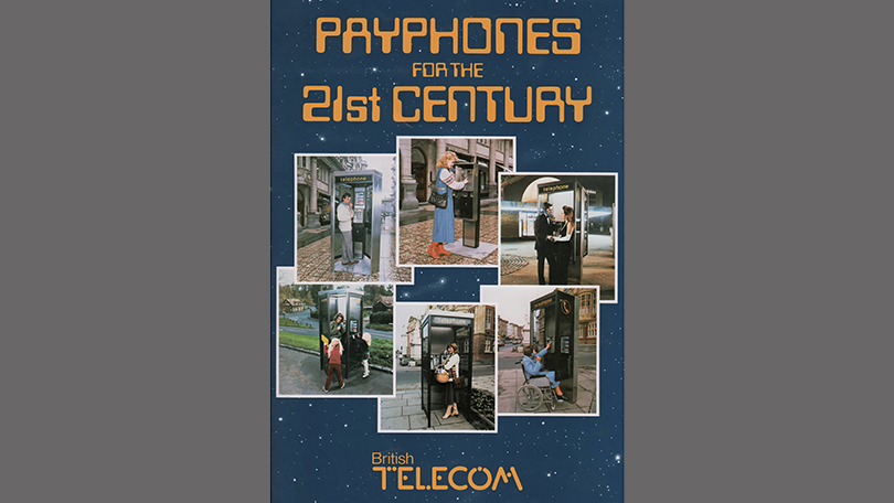 Payphones for the 21st Century: the front cover of the launch-day press pack, 20 June 1985. (Neil Johannessen)