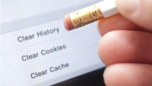 Pencil with delete browsing history