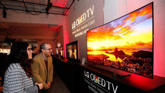 People Watching LG OLED TV