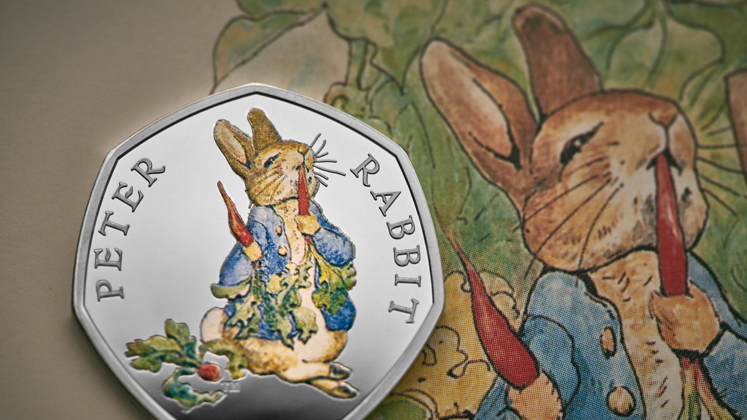 Beatrix Potter's Peter Rabbit to feature on coins