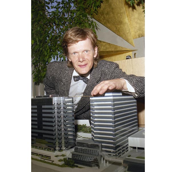 Philippe Petit after being released from hospital in New York after the stunt in 1974.