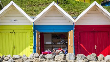 Beach huts in Scarborough