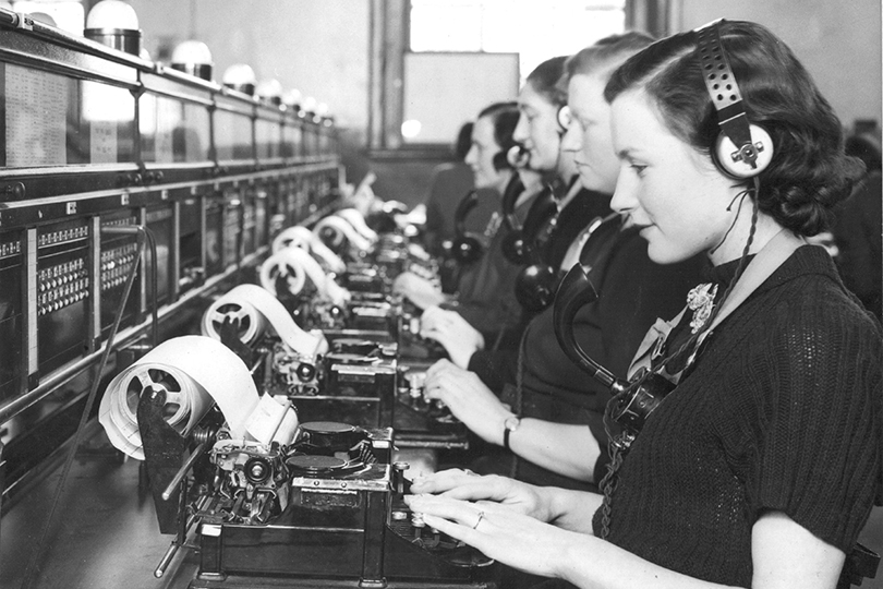 Phonogram positions, Central Telegraph Office, London. 1939.