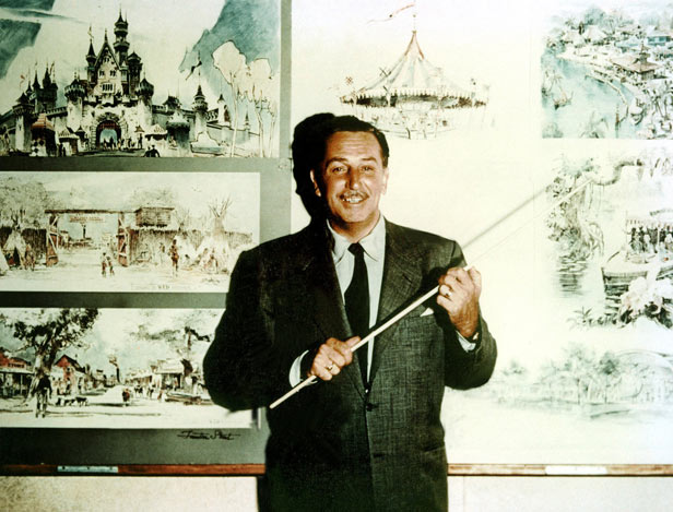 Walt Disney unveils his plans for the theme park in Anaheim, California.
