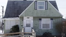 A home that has been pelted with eggs several times a week for a year in Euclid, Ohio (AP)