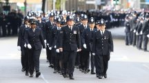 Police officers from across the UK are paying tribute to PC Keith Palmer